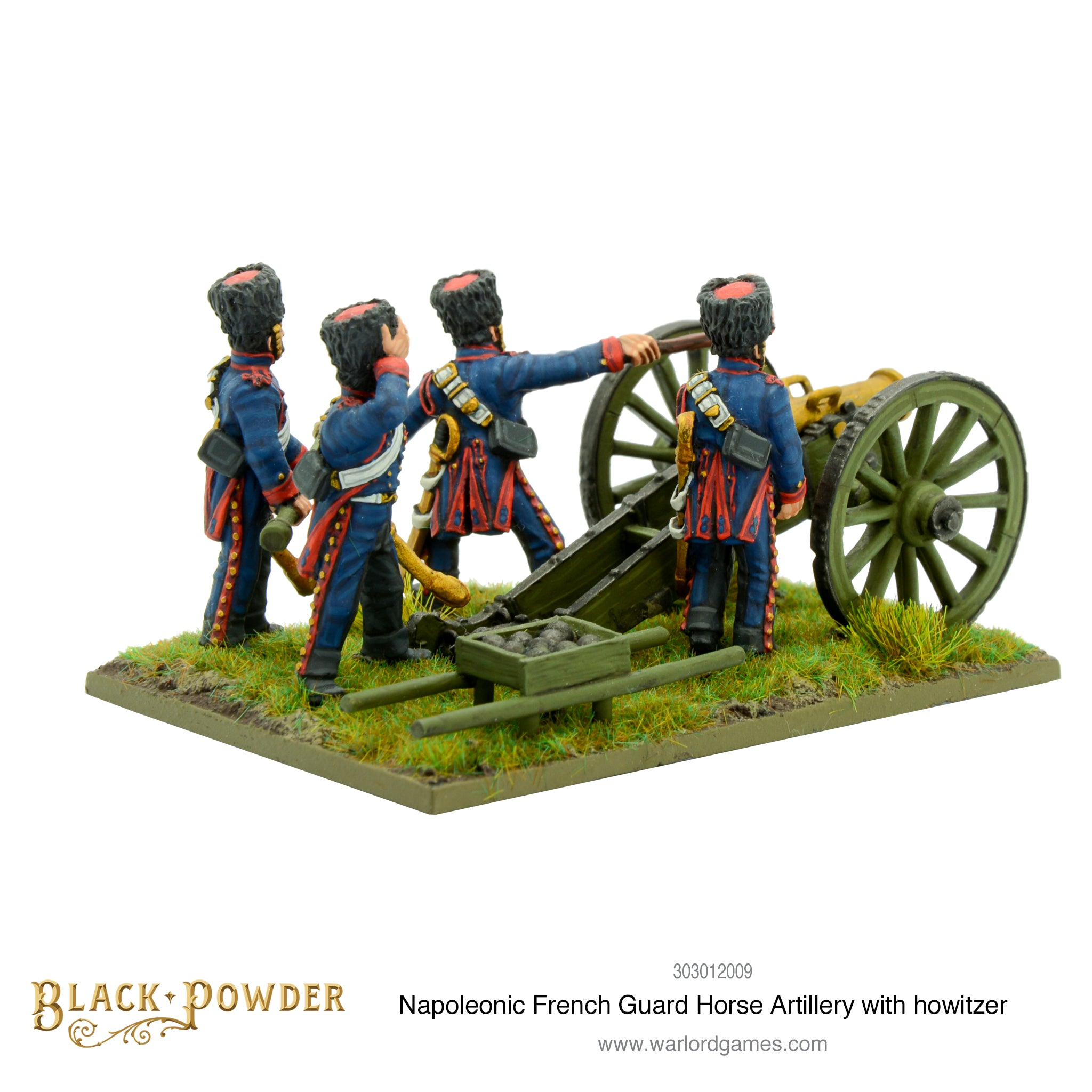 Napoleonic French Guard Horse Artillery with howitzer
