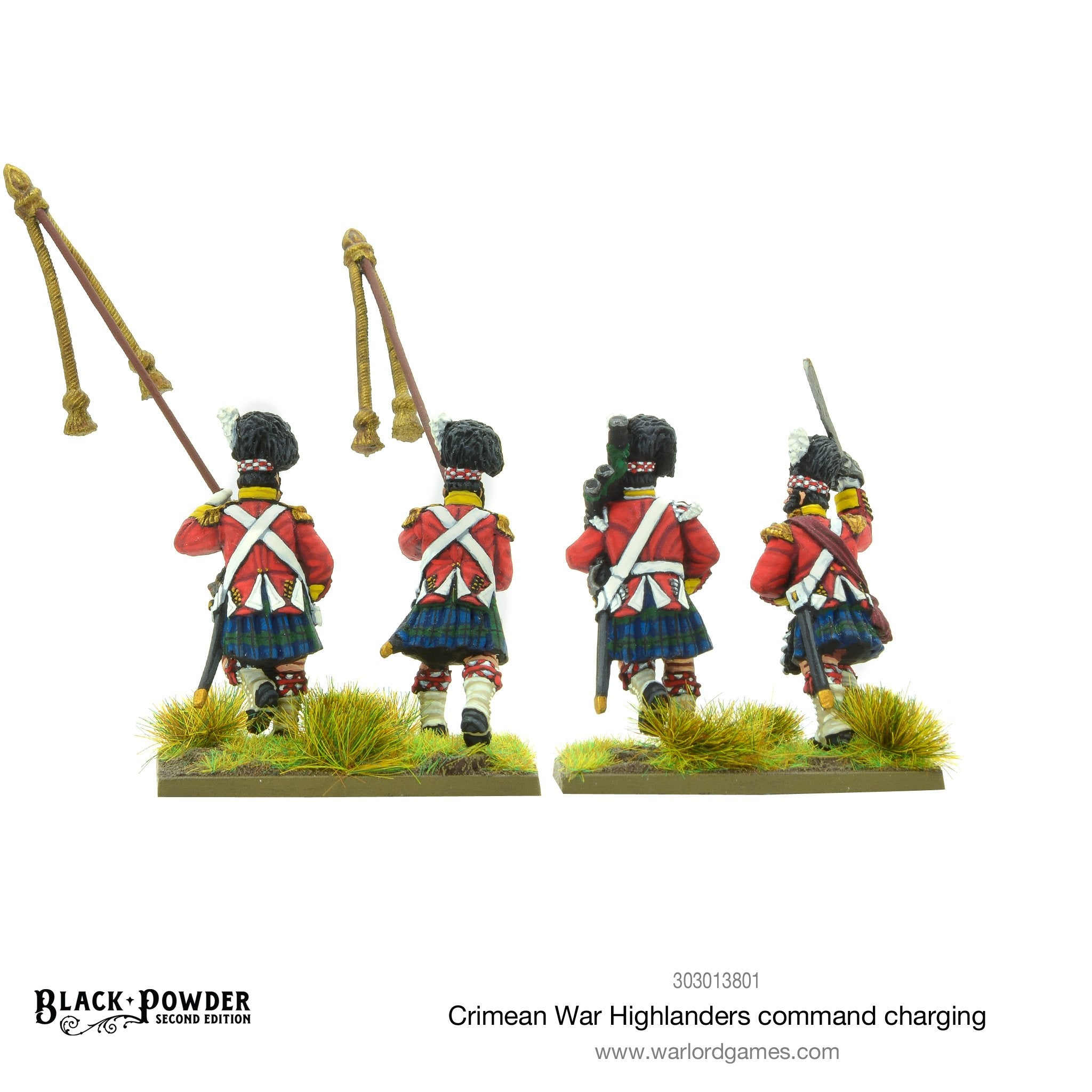 Crimean War Highlanders command charging