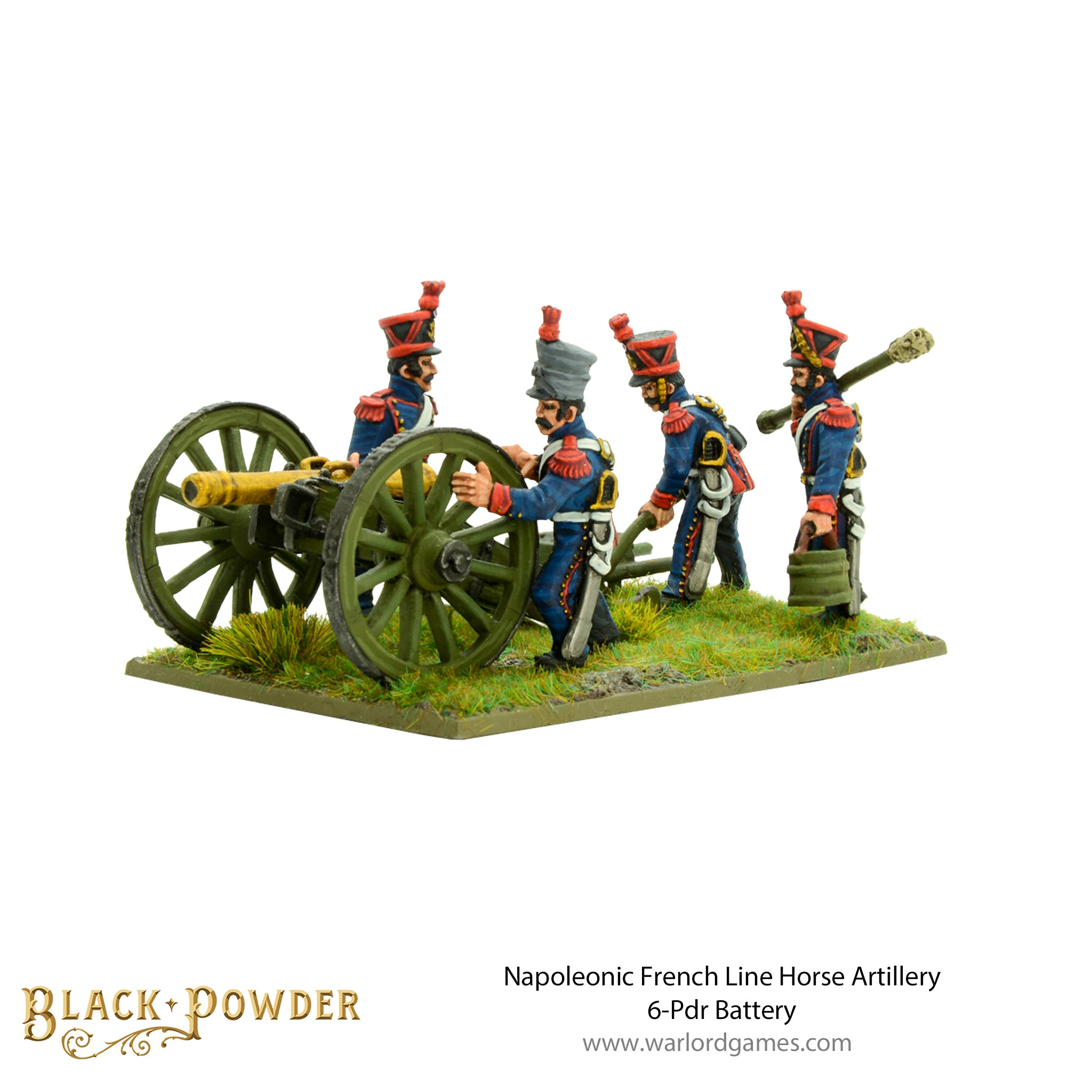 Napoleonic French Line Horse Artillery 6-Pdr Battery