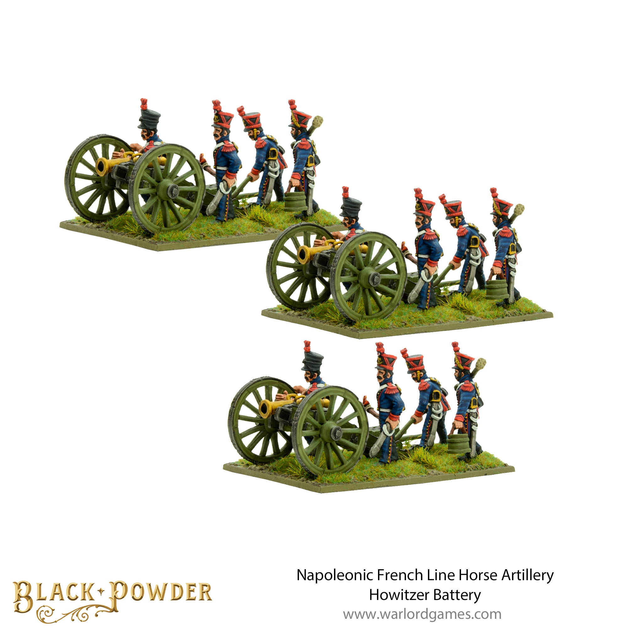 Napoleonic French Line Horse Artillery Howitzer Battery