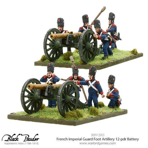 Napoleonic French Imperial Guard Foot Artillery 12-pdr Battery