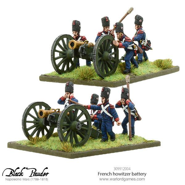 Napoleonic French howitzer battery