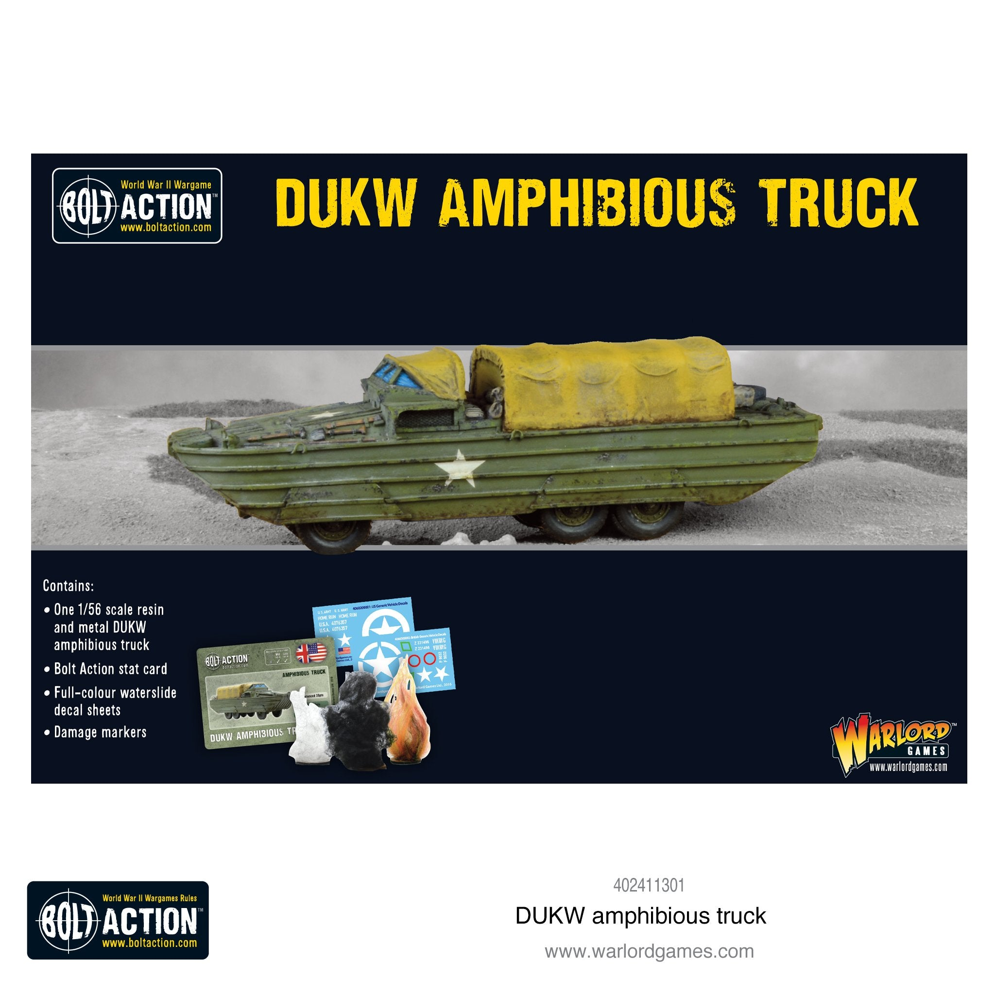 Action Man DUKW Stickers