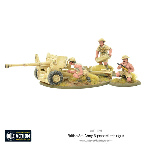 8th Army 6 pounder ATG