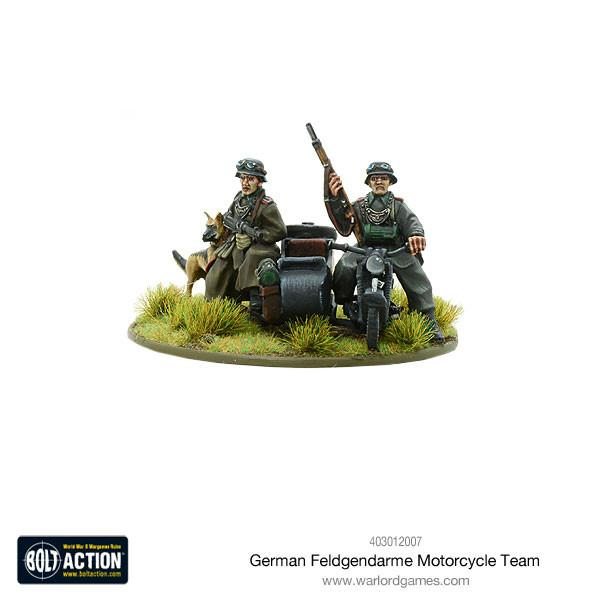 German Feldgendarme motorcycle team