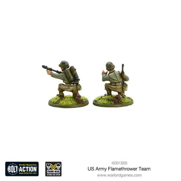 US Army flamethrower team