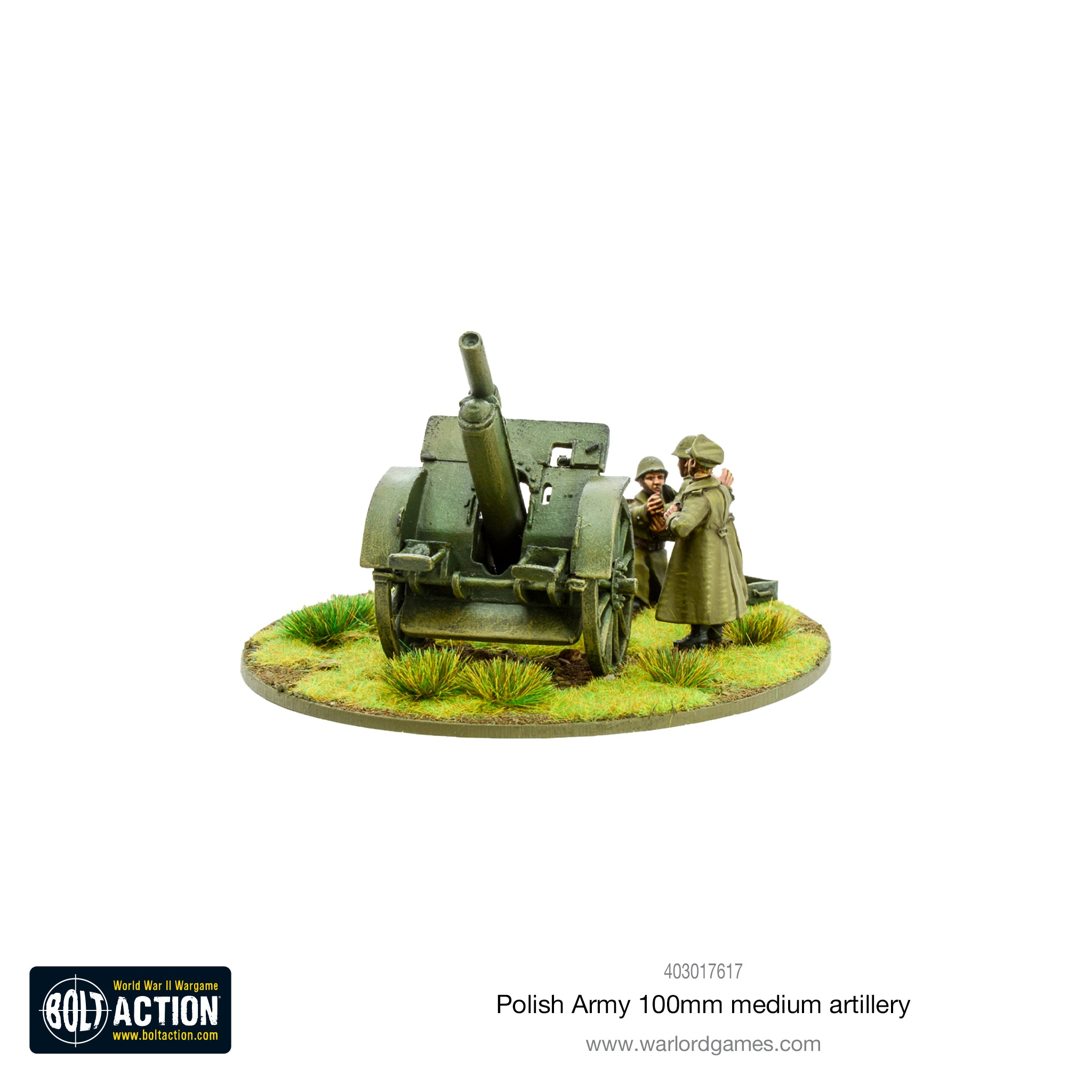 Polish Army 100mm medium artillery