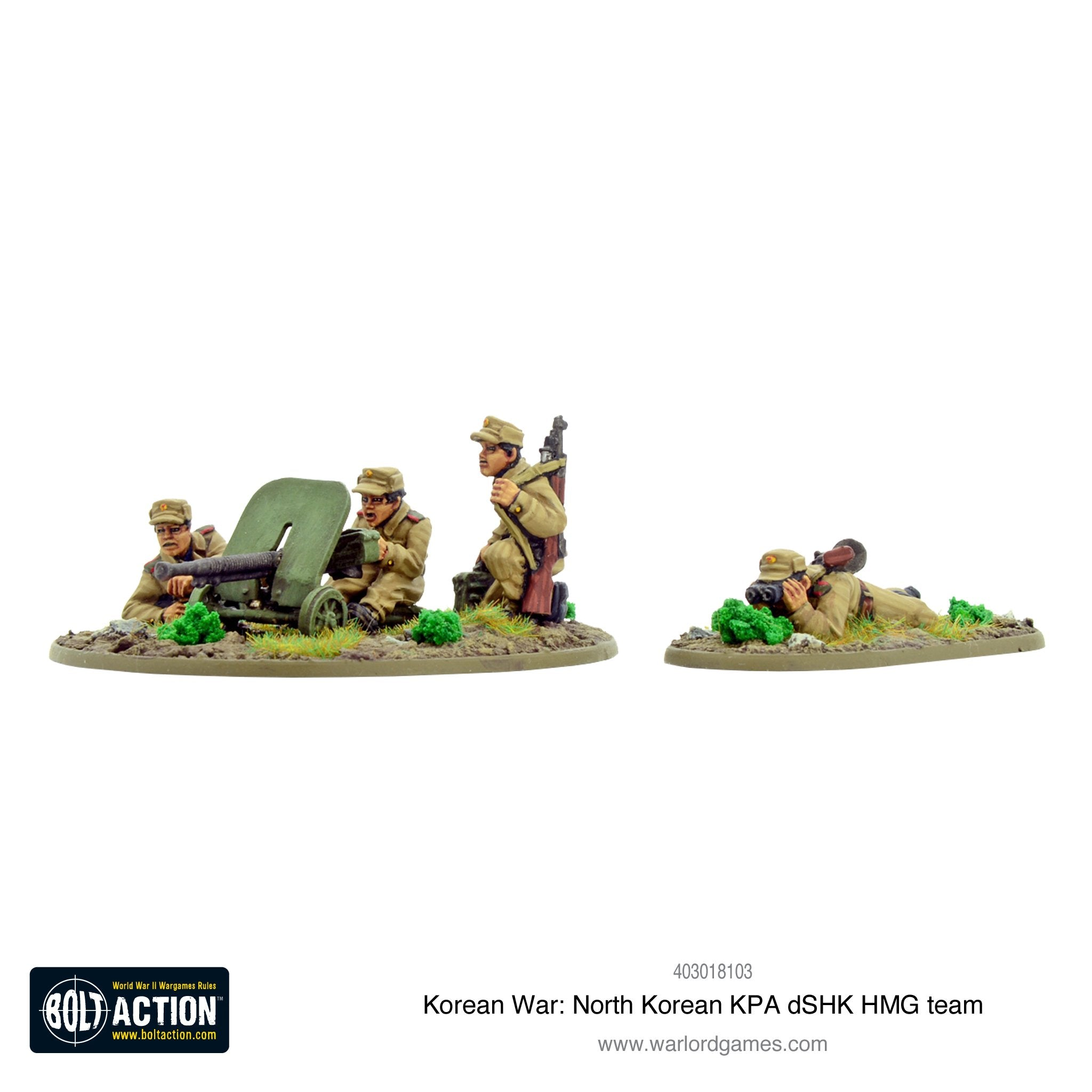 Korean War: North Korean KPA dSHK HMG team