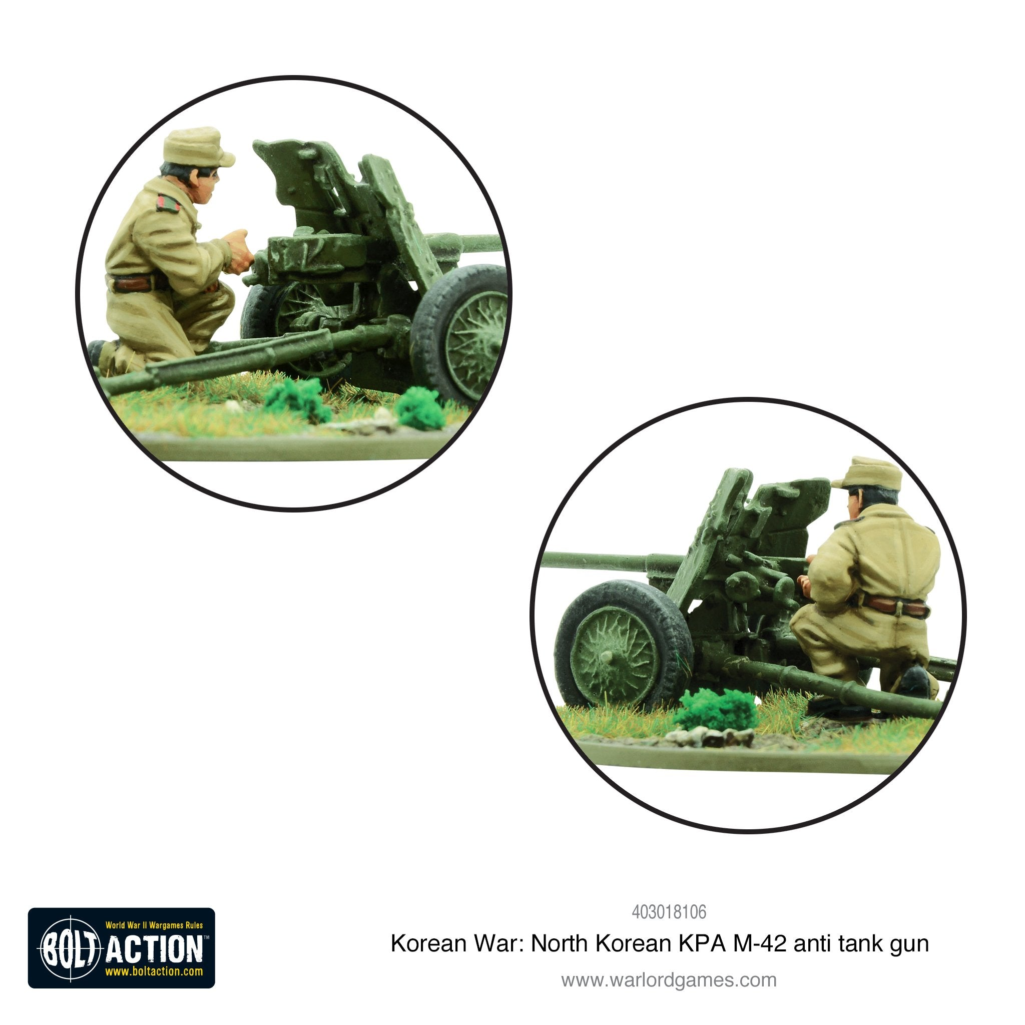 Korean War: North Korean KPA M-42 anti-tank gun