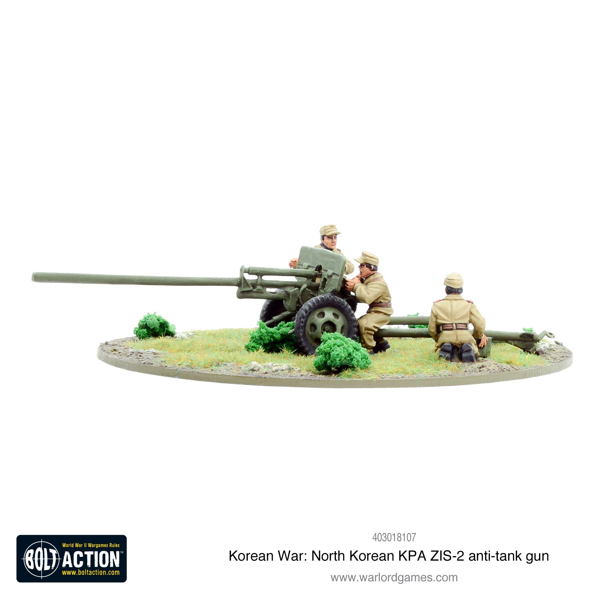 Korean War: North Korean KPA ZIS-2 anti-tank gun