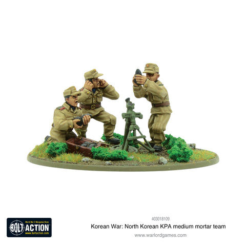 Korean War: North Korean KPA medium mortar team