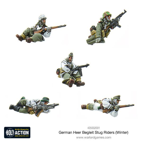 German Heer Begleit Stug riders (Winter)