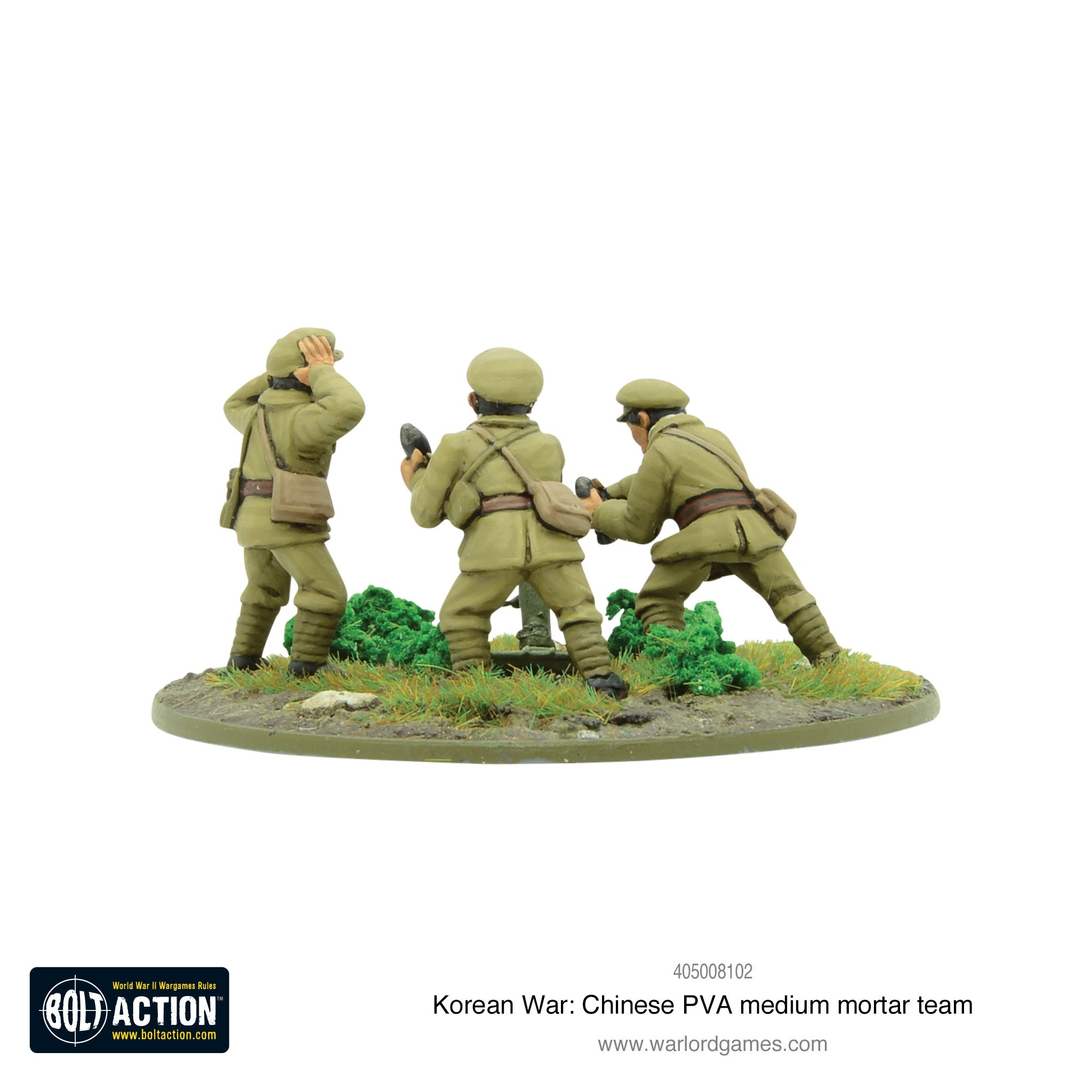 Korean War: Chinese PVA medium mortar team