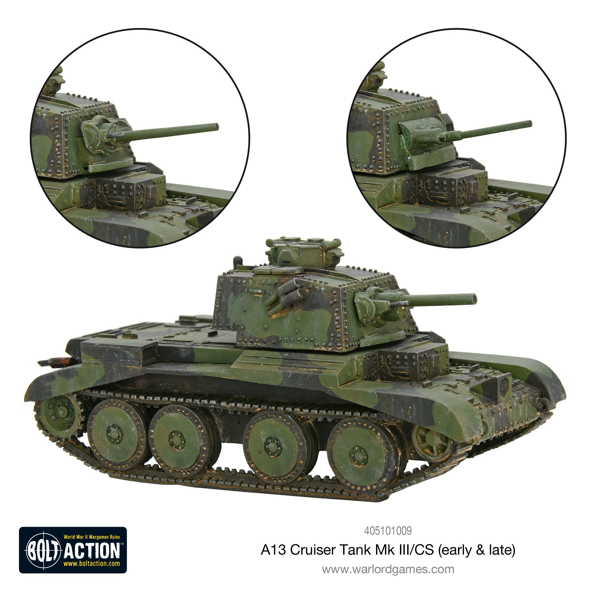 A13 cruiser tank Mk III/CS (early & late)