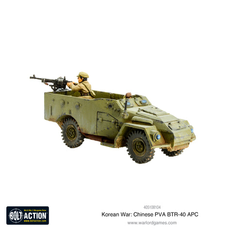 Korean War: Chinese PVA BTR-40 APC