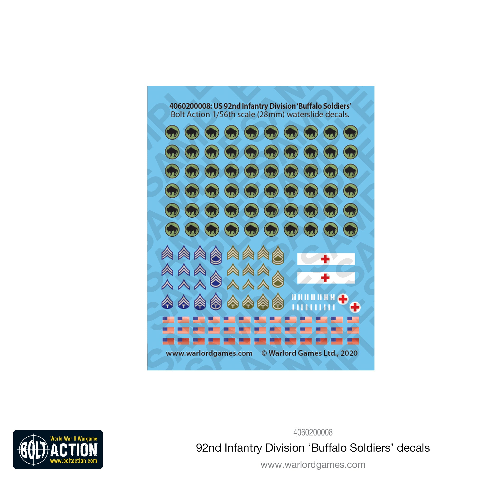 92nd Infantry Division decal sheet