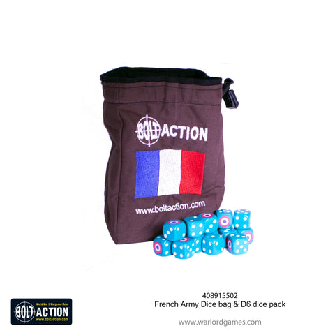 French Army Dice bag & D6 dice pack