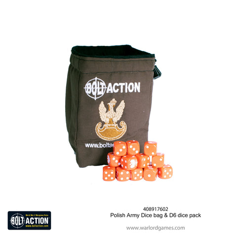 Polish Army Dice bag & D6 dice pack