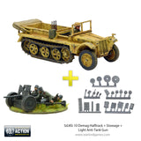 Sd.Kfz 10 Demag Halftrack + Stowage + Light Anti-Tank Gun