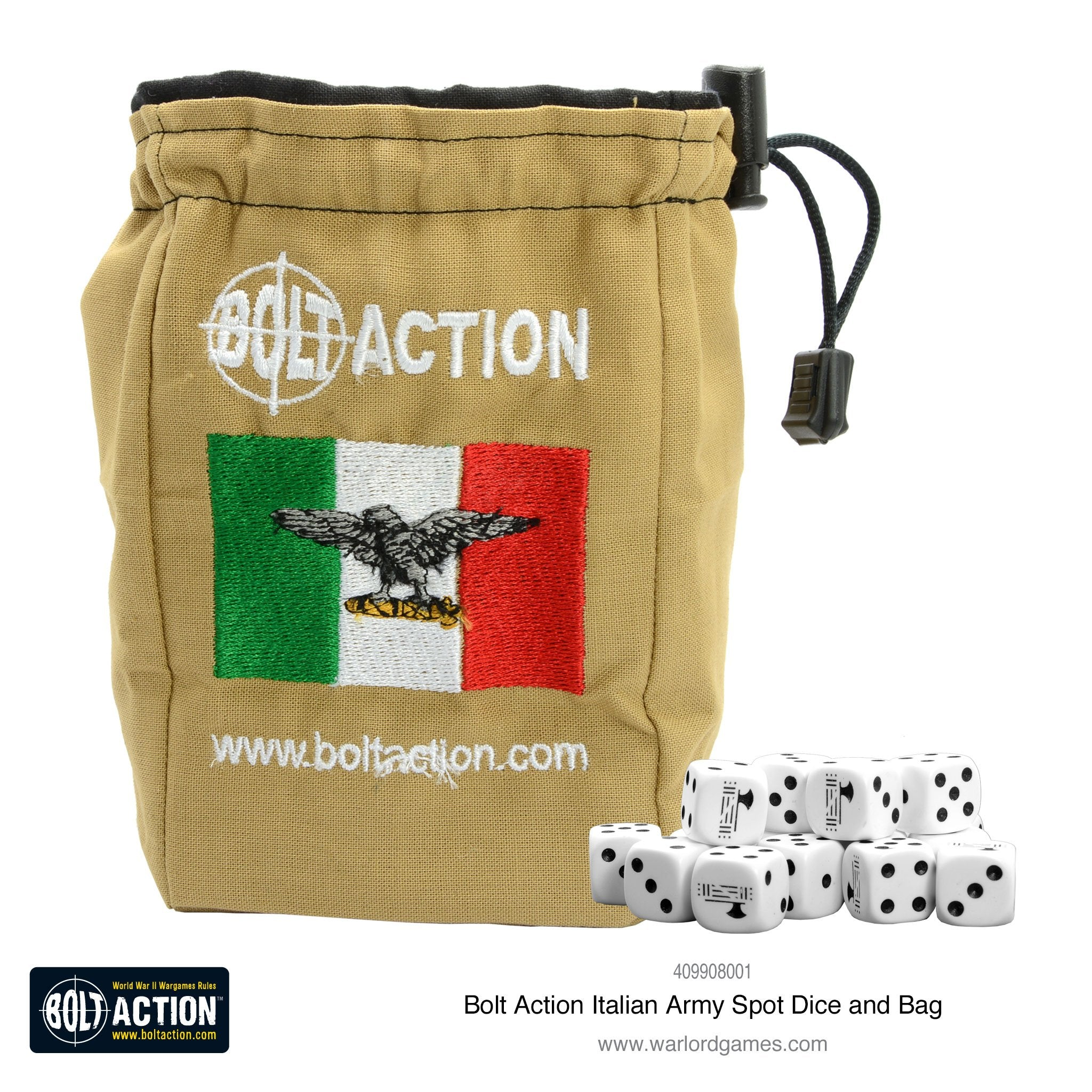 Italian Army D6 and dice bag