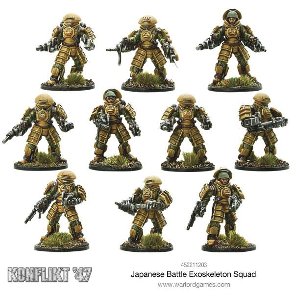 Japanese Battle Exoskeleton Squad