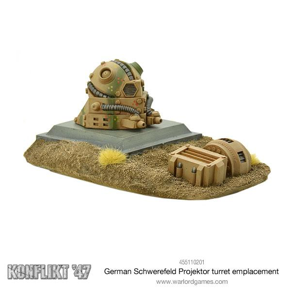 German Schwerefeld Projektor turret emplacement