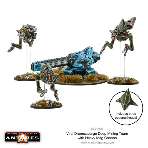 Virai Dronescourge Deep mining team with heavy mag cannon