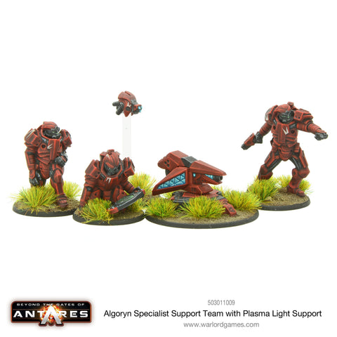 Algoryn specialist support team with plasma light support