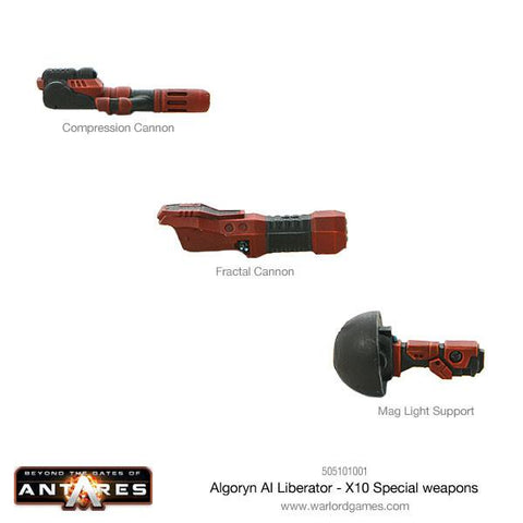 Algoryn AI Liberator combat skimmer - X10 Special weapons