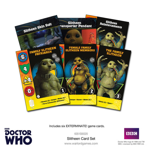 Slitheen Card Set