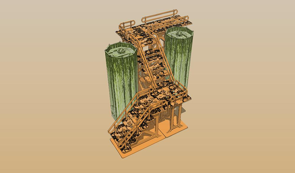Silo / Gantry Scenery Set