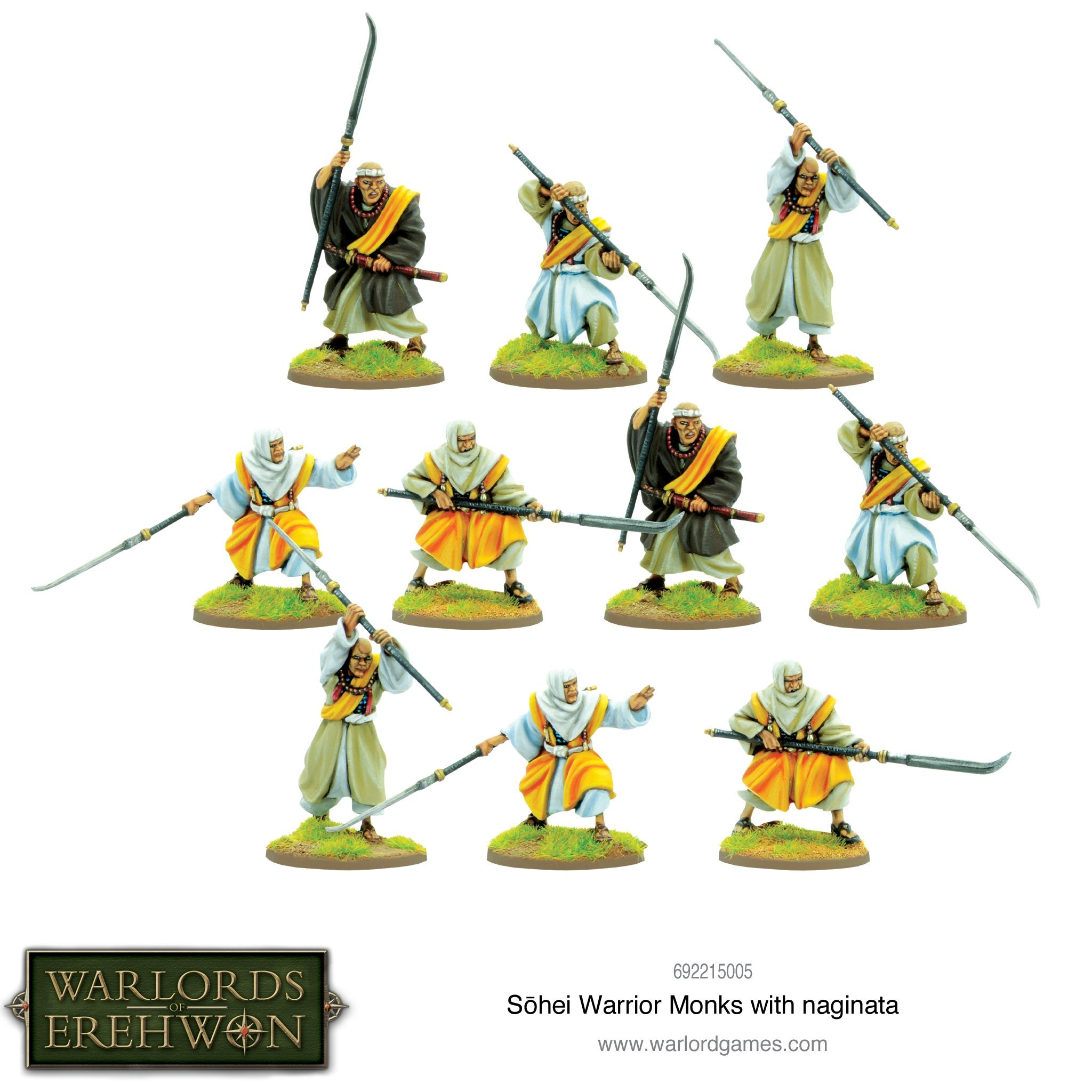 Warlord of Erehwon: Sohei Warrior Monks with naginata