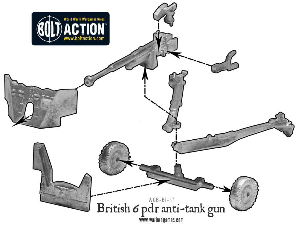 British Army Six Pounder AT Gun