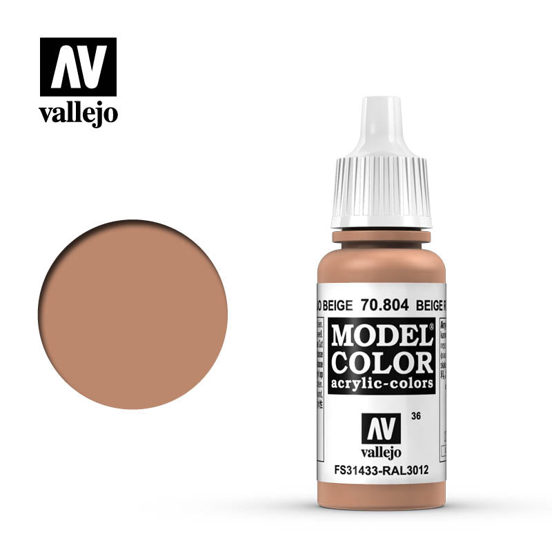 Vallejo Model Colour 804 Beige Red