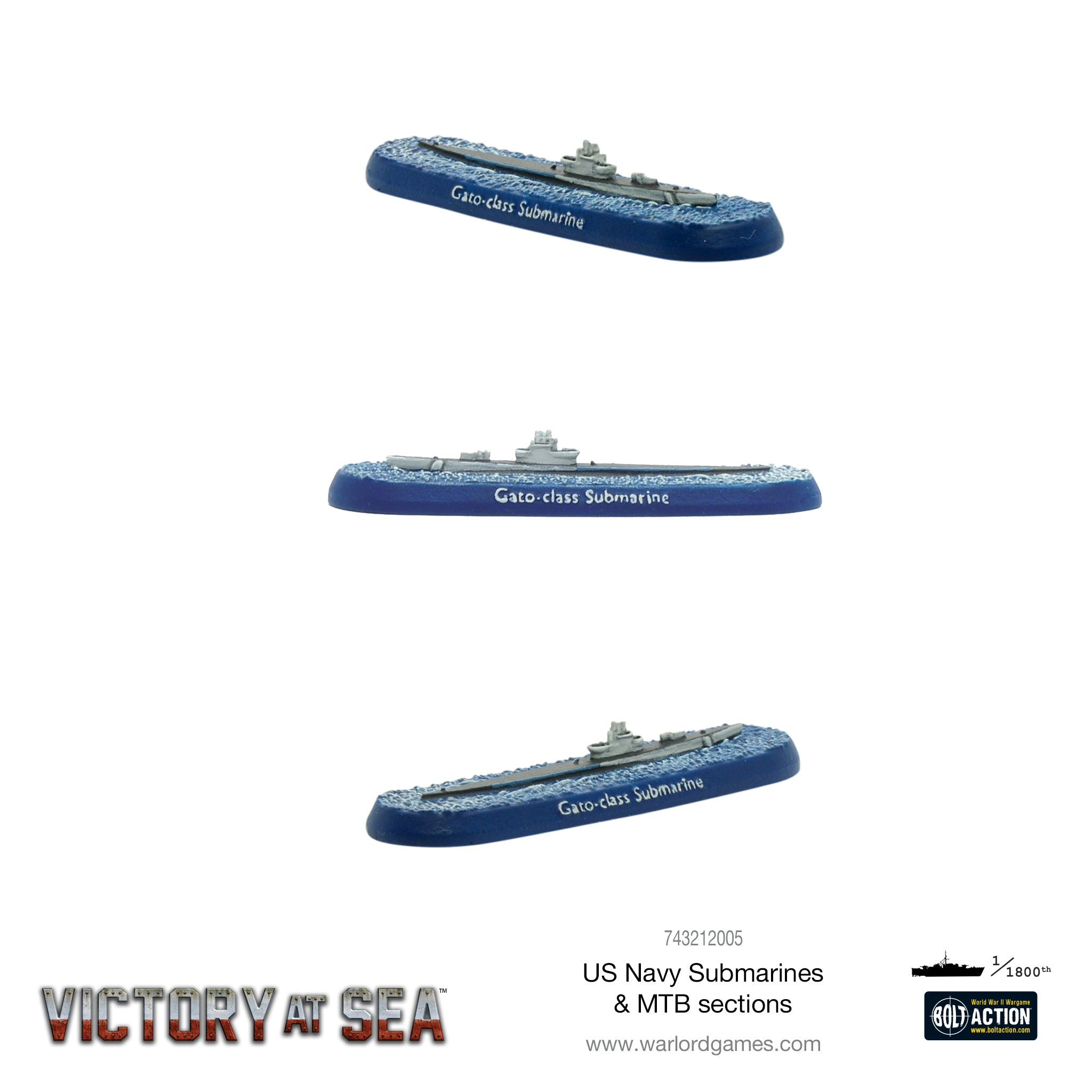 Victory at Sea - US Navy Submarines & MTB sections