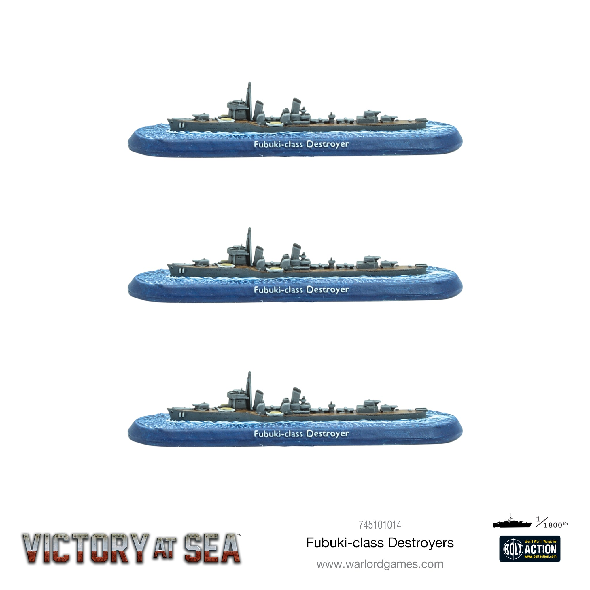 Victory at Sea Fubuki-class Destroyers