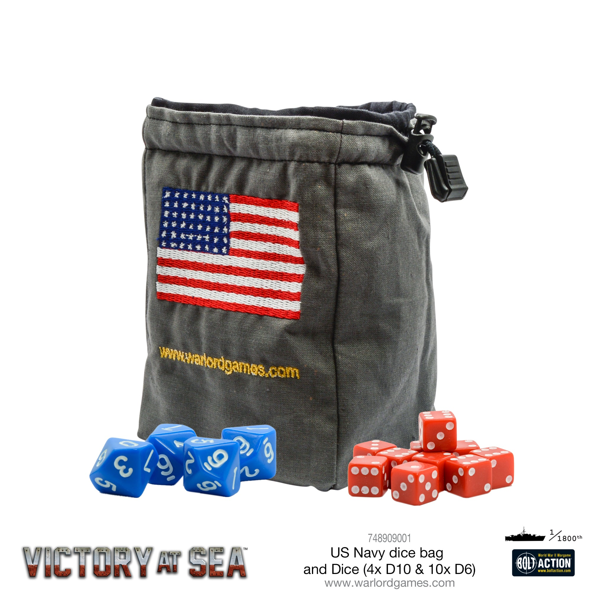 Victory at Sea - US Navy Dice and Dice bag