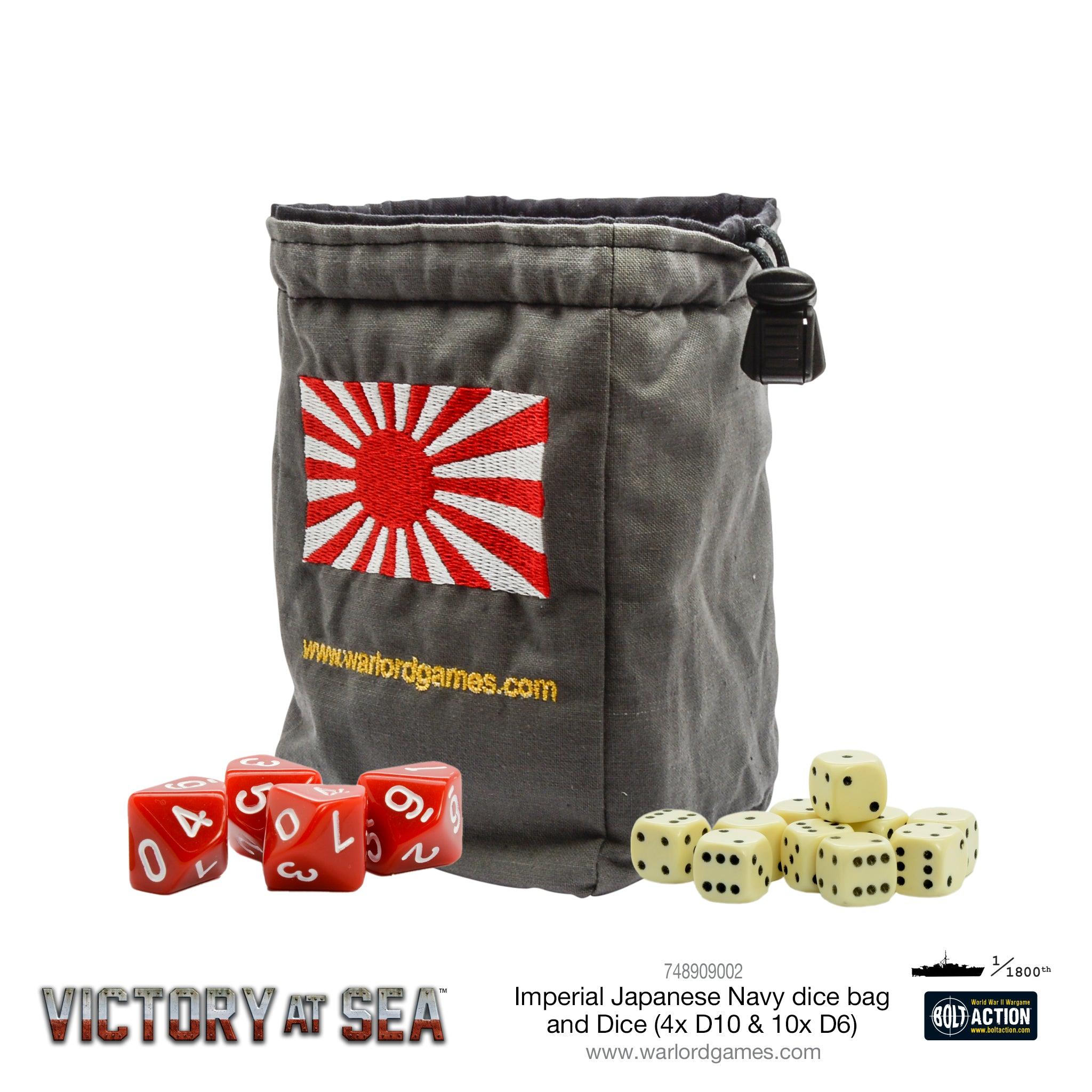 Victory at Sea - Imperial Japanese Navy Dice and Dice Bag