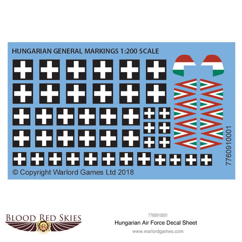 Hungarian Air Force decal sheet