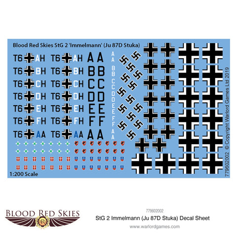 StG 2 Immelmann (Ju 87D Stuka) decal sheet