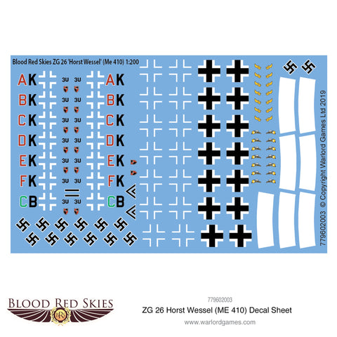 ZG 26  Horst Wessel (Me 410) decal sheet