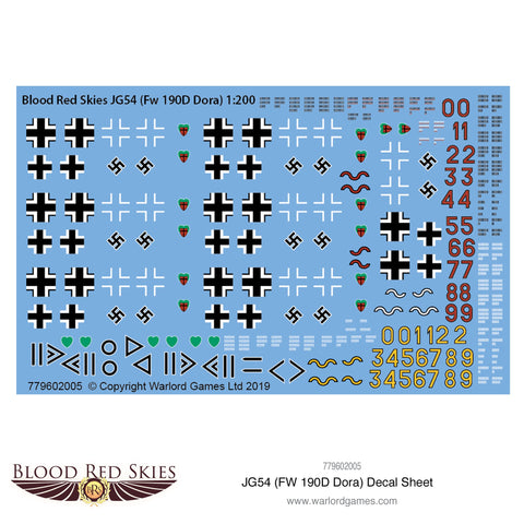 JG54 (Fw 190D Dora) decal sheet