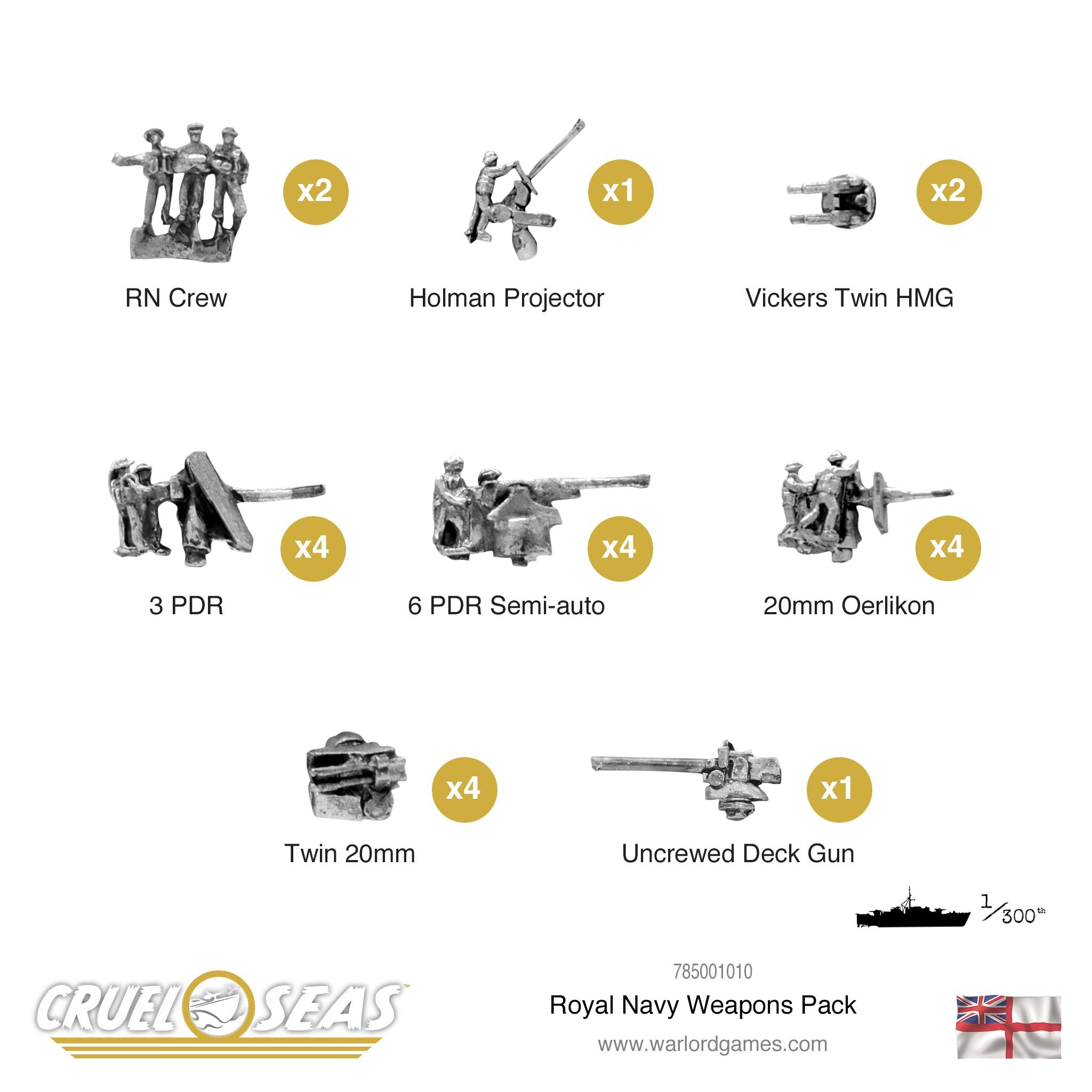 Cruel Seas Royal Navy weapons pack
