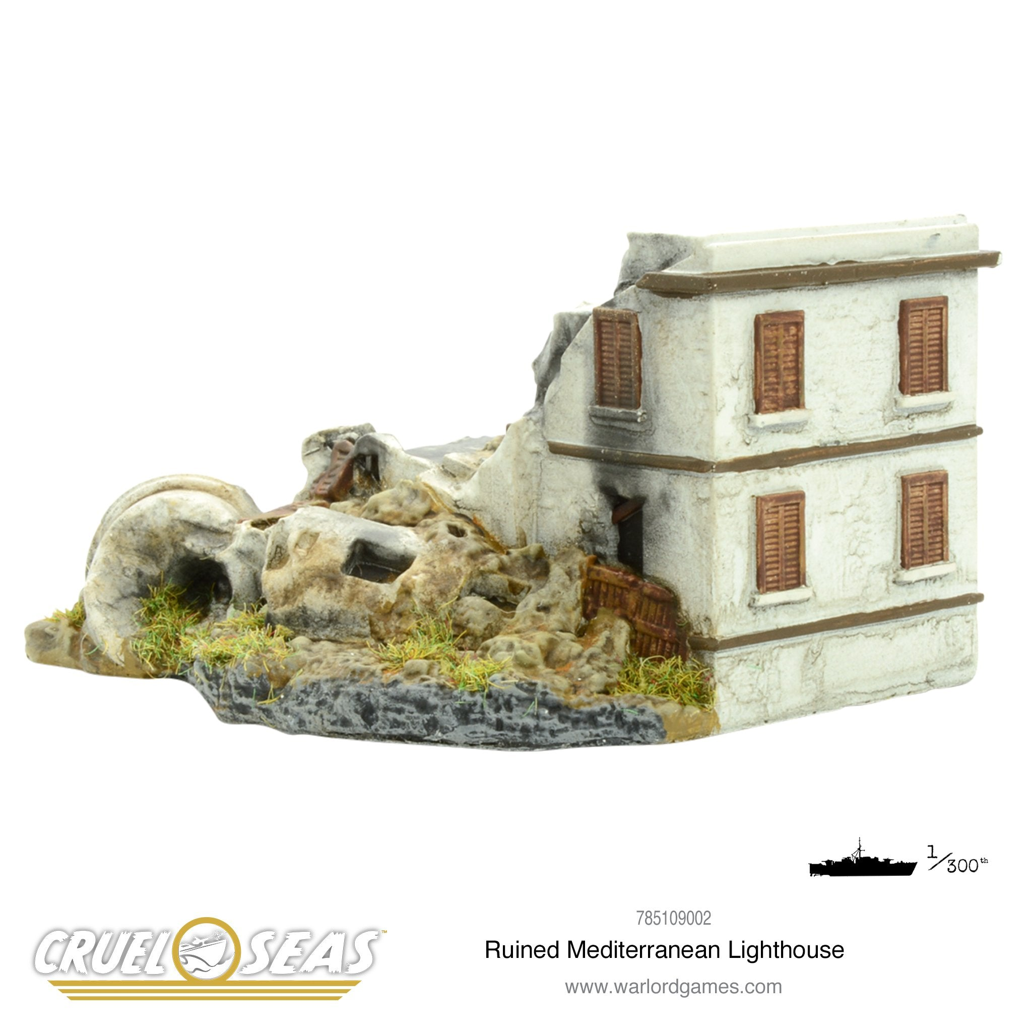 Ruined Mediterranean Lighthouse
