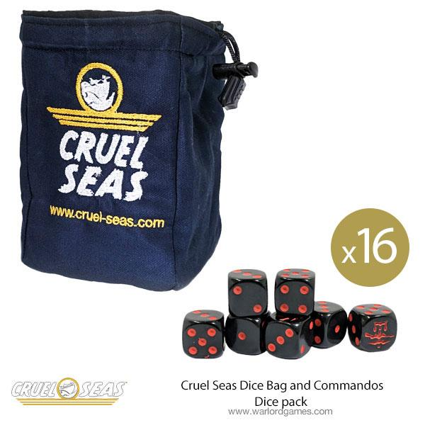 Cruel Seas Dice Bag and Commandos Dice pack