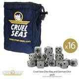 Cruel Seas Dice Bag and German Dice pack