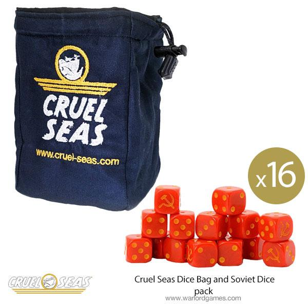 Cruel Seas Dice Bag and Soviet Dice pack