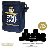 Cruel Seas Dice Bag and Italian Dice pack