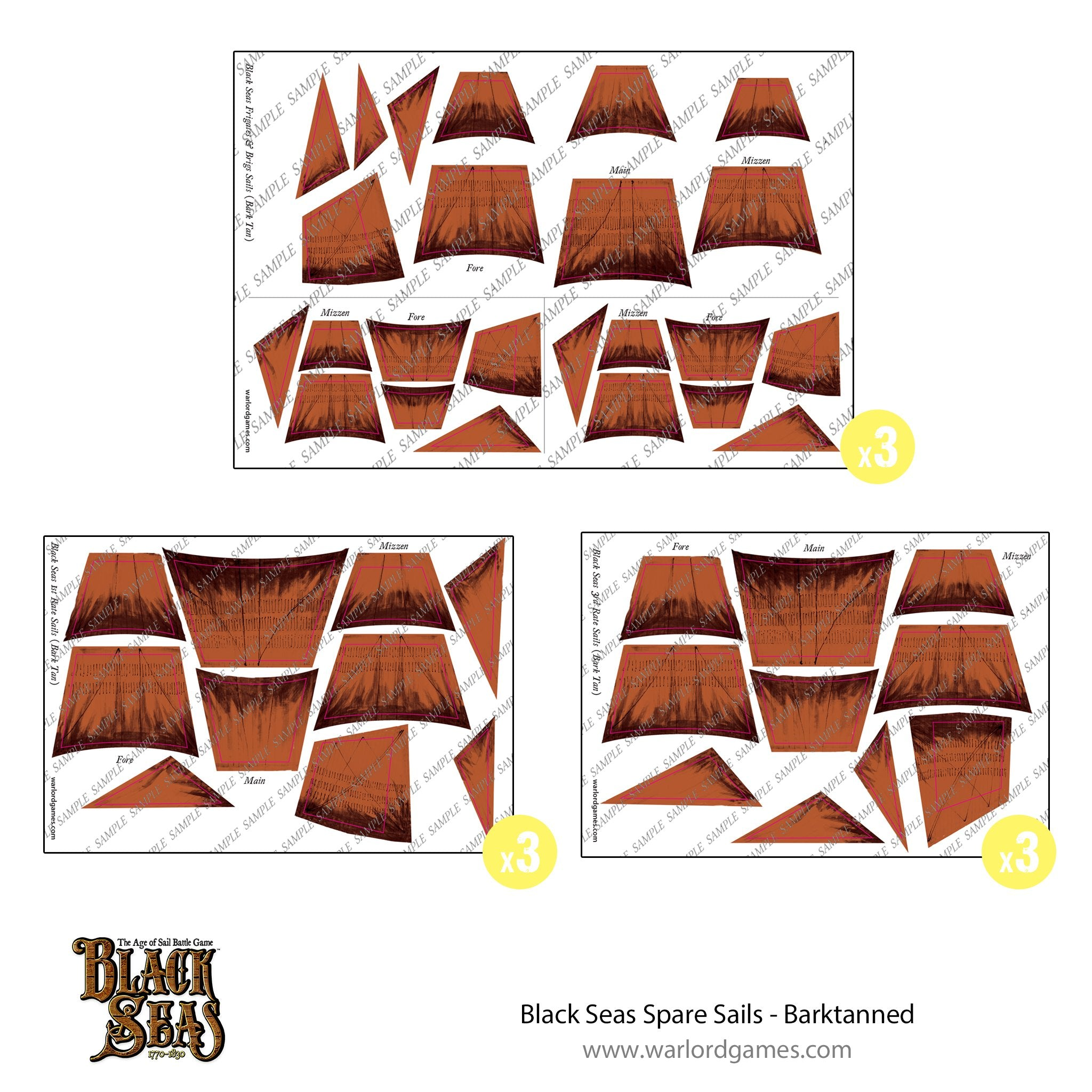 Black Seas Spare sails - barktanned
