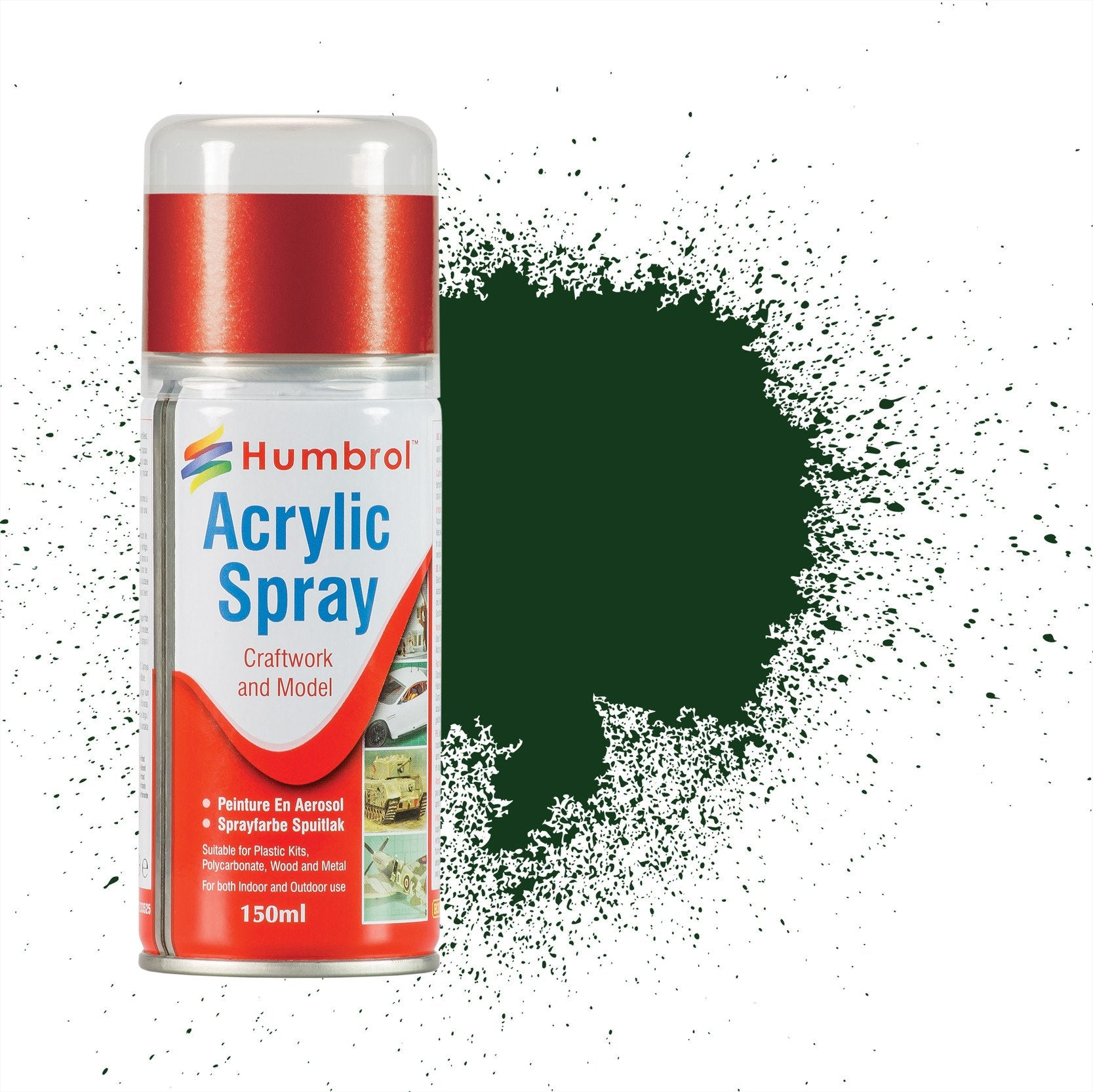 No 3 Brunswick Green Gloss - 150ml Acrylic Spray Paint
